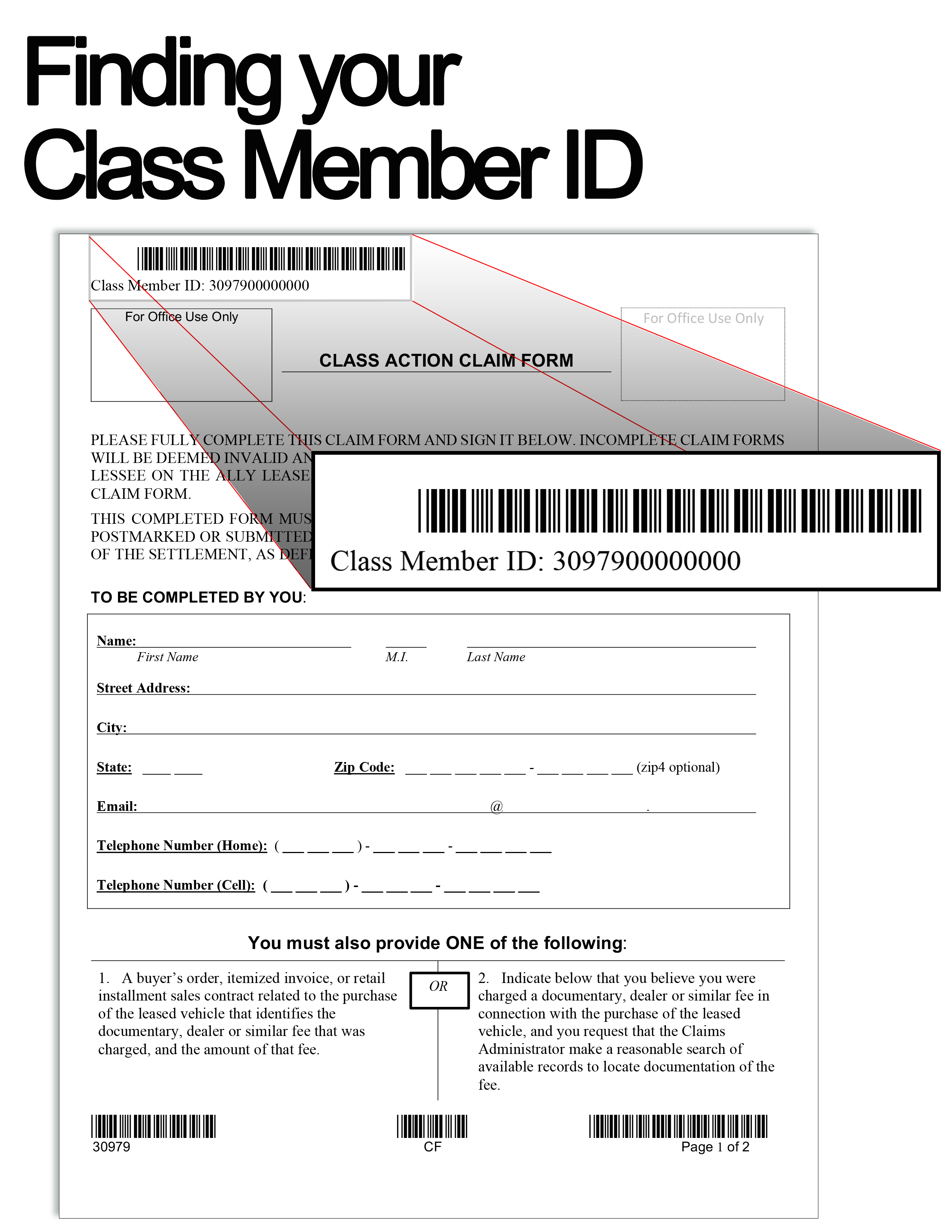 claim form sample image
